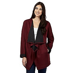 Red Herring - Dark red raw edge jacket