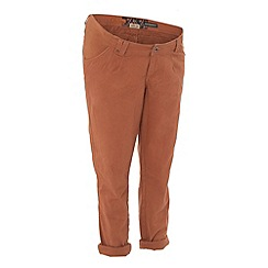 Red Herring Maternity - Dark orange chino maternity trousers