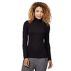 Red Herring - Black roll neck top