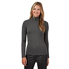 Red Herring - Grey roll neck top