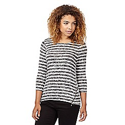 Red Herring - Ivory zip striped top