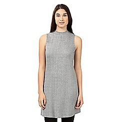 Red Herring - Grey ribbed turtle neck tunic