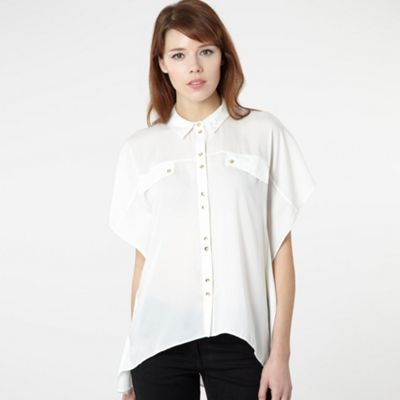 Over Sized Cream Shirt