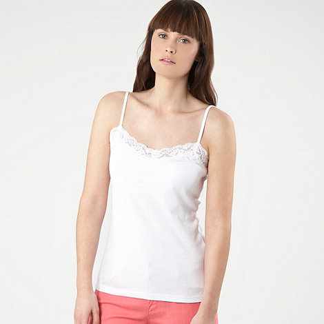 Red Herring - White lace trim camisole top