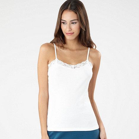 Red Herring - Cream lace trim camisole top