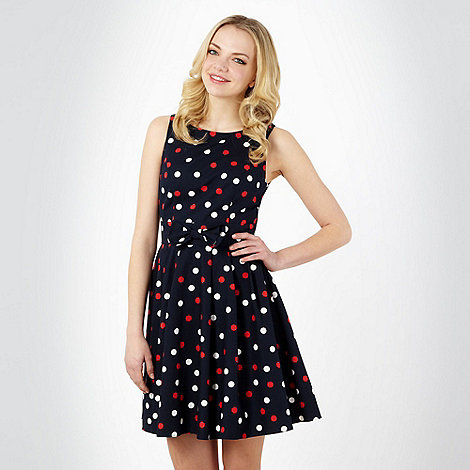 Red Herring - Special Edition - Navy spotted prom dress