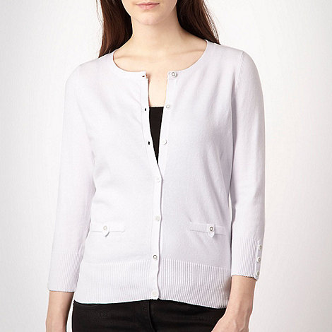 Red Herring - White cotton stretch cardigan