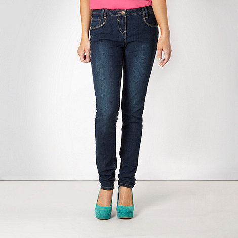 Red Herring - Blue plain +Lulu+ skinny jeans