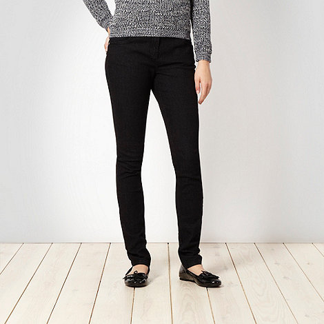 Red Herring - Black +Lulu+ skinny jeans
