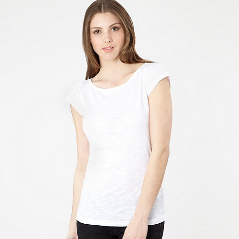 Red Herring - White round neck t-shirt