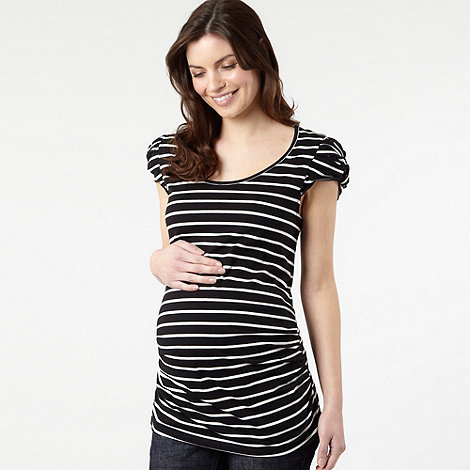 Red Herring Maternity - Effortless black and white striped maternity top