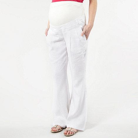 Red Herring Maternity - White linen maternity trousers