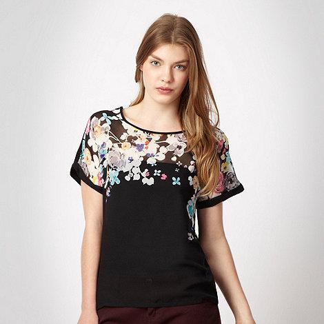 Red Herring - Black floral top