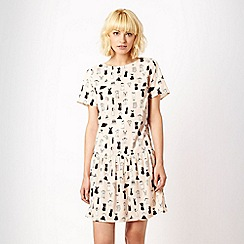 Red Herring - Pale pink clothes printed day dress