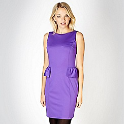 Red Herring - Purple jersey peplum dress
