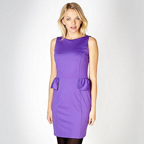 Red Herring - Purple jersey peplum dress