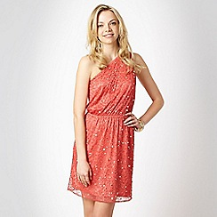 Red Herring - Special Edition - peach beaded one shoulder dress