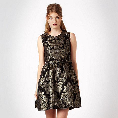 Red Herring - Black baroque jacquard dress