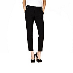 Red Herring - Black faux leather trimmed trousers