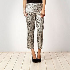 Red Herring - Silver jacquard trousers