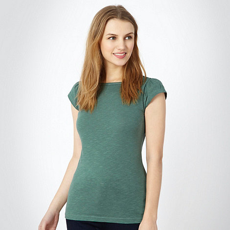 Red Herring - Dark green ruched sleeve t-shirt