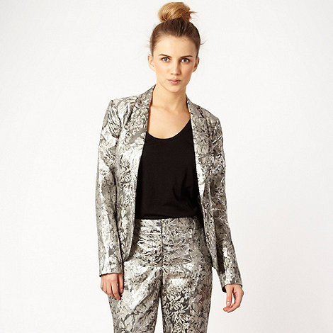 Red Herring - Silver jacquard jacket