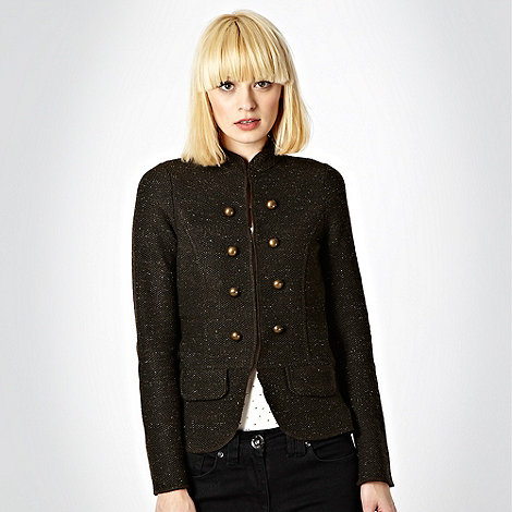 Red Herring - Khaki textured military jacket
