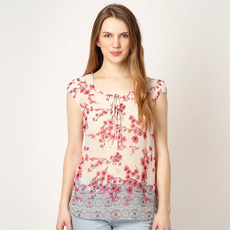 Red Herring - Dark pink blossom shell top