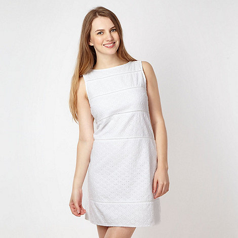 Red Herring - White broderie shift dress