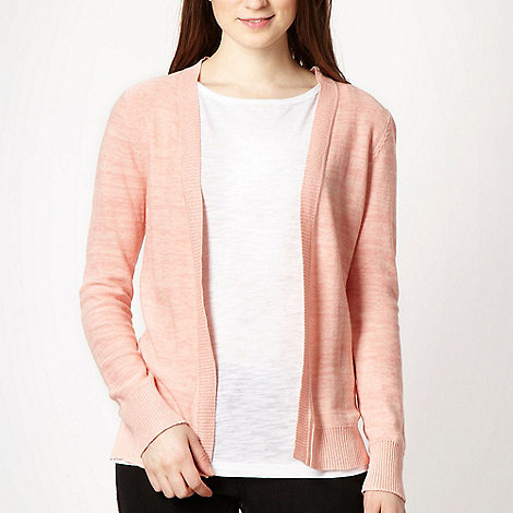 Red Herring - Peach open front asymmetric cardigan