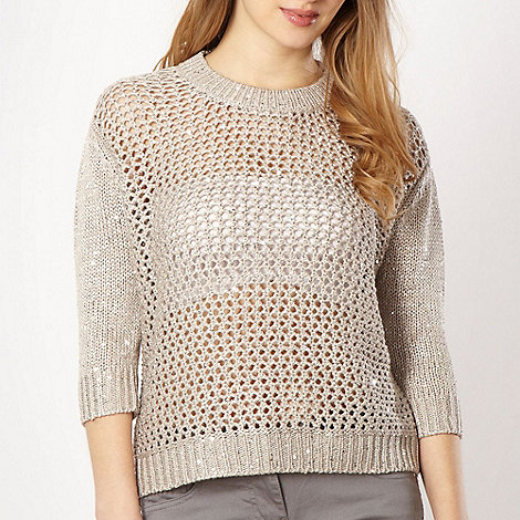 Red Herring - Taupe sequin jumper