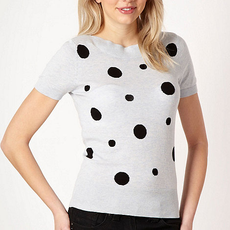 Red Herring - Online exclusive - light blue spotted short sleeved jumper