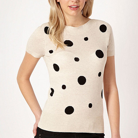 Red Herring - Cream spotted short sleeved jumper