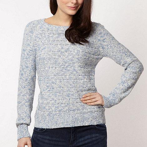 Red Herring - Blue spacedye knit jumper