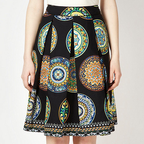 Red Herring - Black tile print skirt