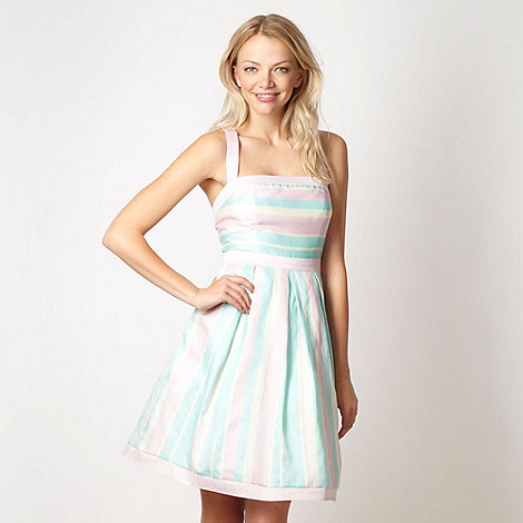 Red Herring - Pink striped sun dress
