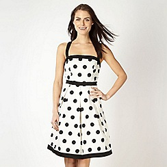 Red Herring - White spotted prom dress