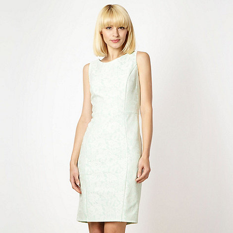 Red Herring - Light green bonded lace shift dress