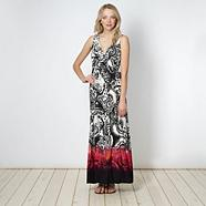 Black tribal paisley maxi dress