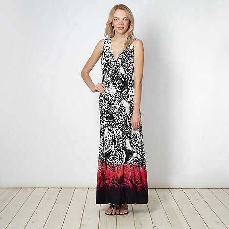 Red Herring - Black tribal paisley maxi dress