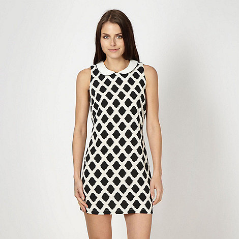 Red Herring - White geometric shift dress