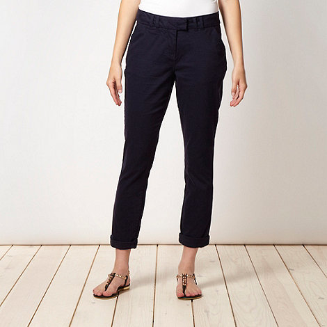 Red Herring - Navy tapered leg trousers