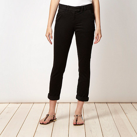 Red Herring - Black tapered leg trousers