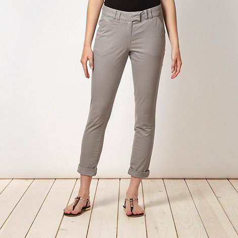 Red Herring - Grey cropped trousers