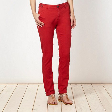 Red Herring Maternity - Red tapered leg chinos