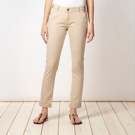Red Herring - Beige plain twill chinos