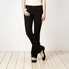 Red Herring - Black 'Daisy' bootcut jeans