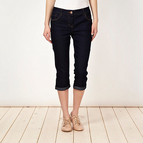 Red Herring - Dark blue cropped jeans