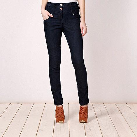 Red Herring - Dark blue +Heidi+ high waisted skinny fit jeans