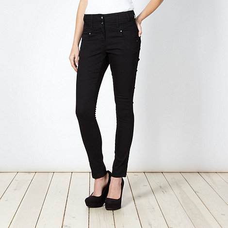 Red Herring - Black +Heidi+ high waisted skinny jeans